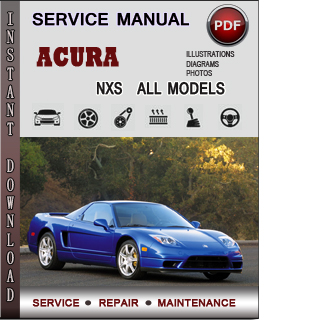 Acura NSX manual pdf