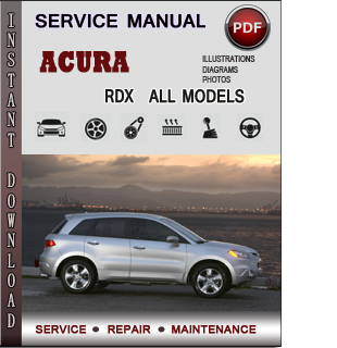 Acura RDX manual pdf