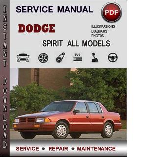 Dodge Spirit manual pdf