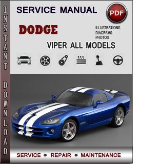 Dodge Viper manual pdf