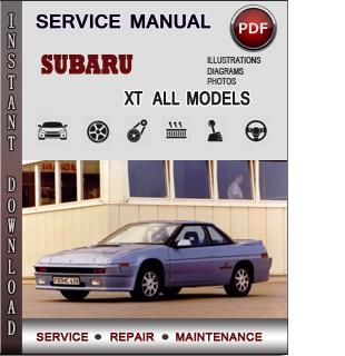 Subaru XT manual pdf