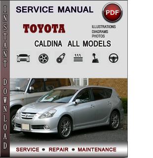 Toyota Caldina manual pdf