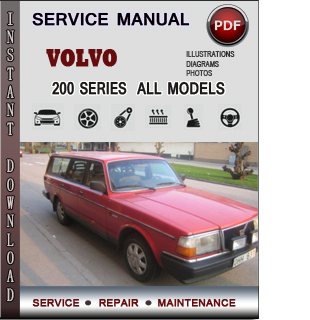 Volvo 200 SERIES manual pdf