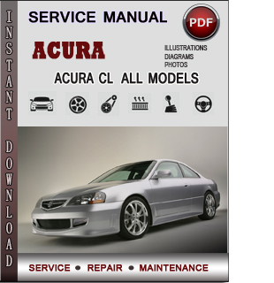 Acura CL manual pdf