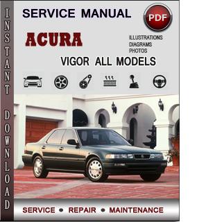 Acura Vigor manual pdf