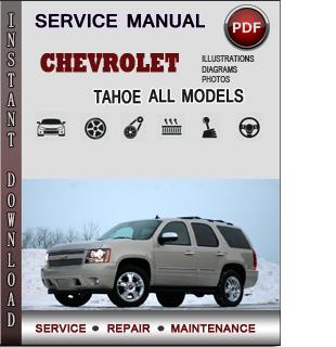 Chevrolet Tahoe manual pdf
