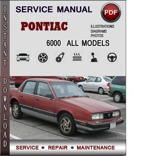 Pontiac 6000 manual pdf
