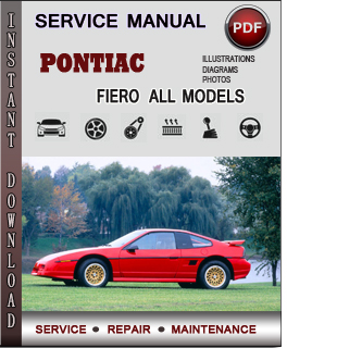 Pontiac Fiero manual pdf
