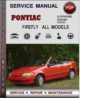 Pontiac Firefly manual pdf