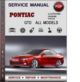 Pontiac GTO manual pdf