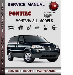 Pontiac Montana manual pdf