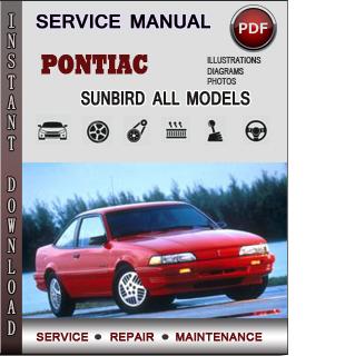Pontiac Sunbird manual pdf