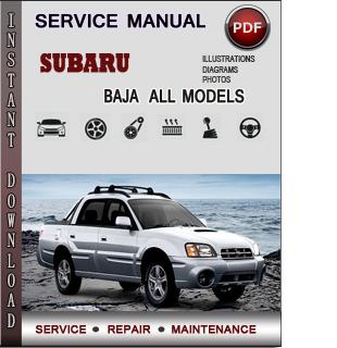 Subaru Baja manual pdf