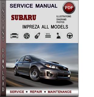 Subaru Impreza Service Repair Manual Download - Info ...