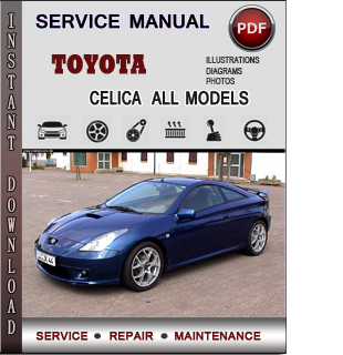Toyota Celica manual pdf