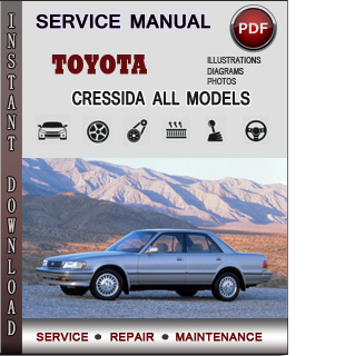 Toyota Cressida manual pdf