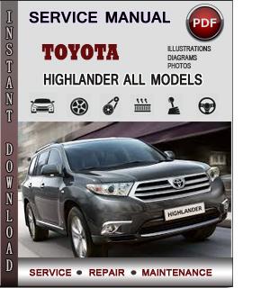 Toyota Highlander manual pdf