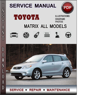 Toyota Matrix manual pdf