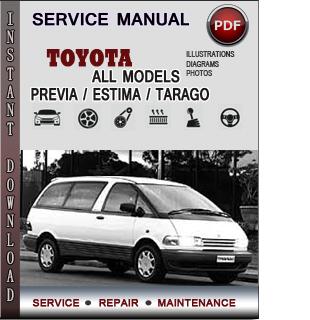 Toyota Previa manual pdf