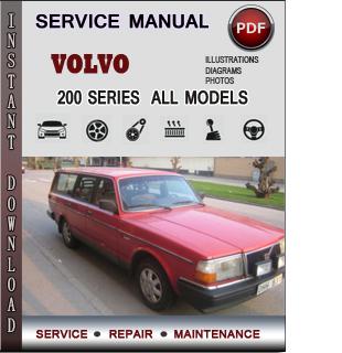 Volvo 200 SERIES manual pdf